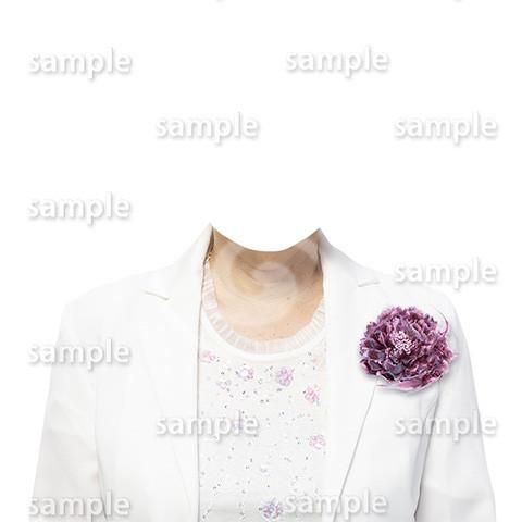C100-遺影素材-女性白の着せ替え