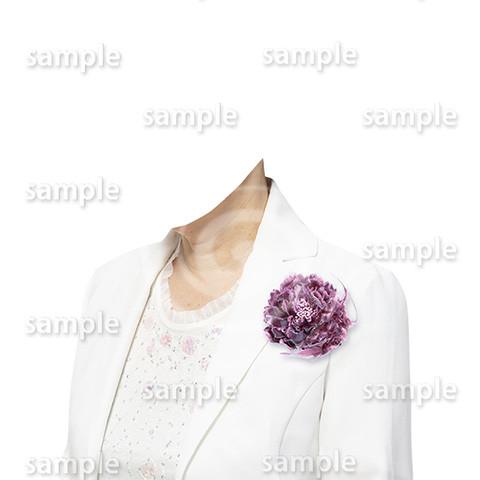 C099-遺影素材-女性白の着せ替え