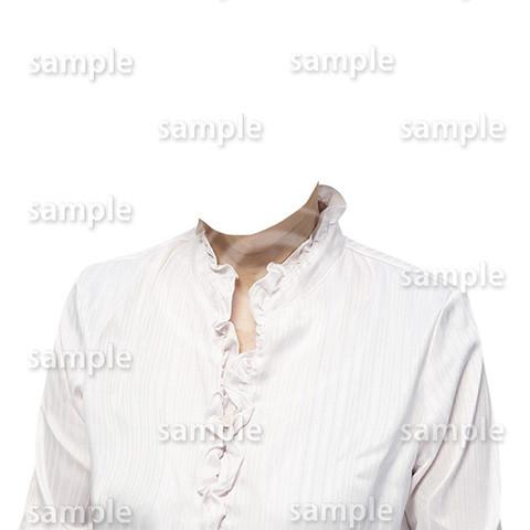 C111-遺影素材-女性白の着せ替え