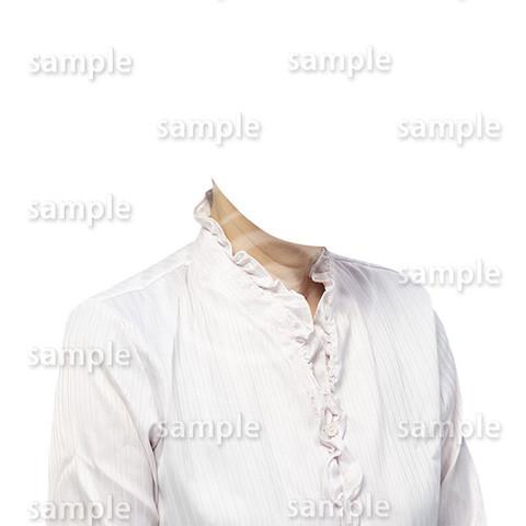 C113-遺影素材-女性白の着せ替え