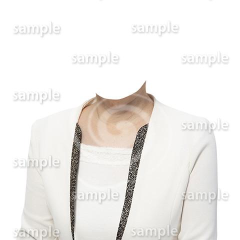 C114-遺影素材-女性白の着せ替え