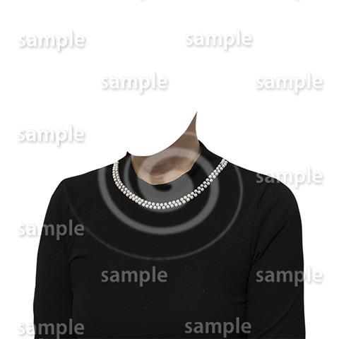 C054-遺影素材-女性黒の着せ替え