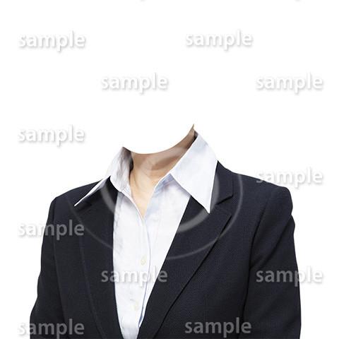 C087-遺影素材-女性黒の着せ替え