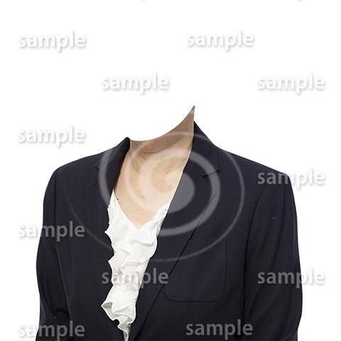 C063-遺影素材-女性黒の着せ替え