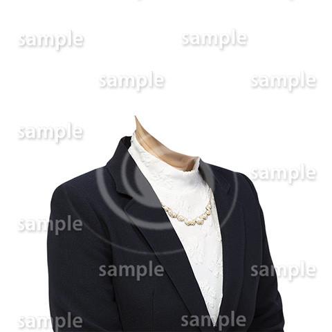 C071-遺影素材-女性黒の着せ替え