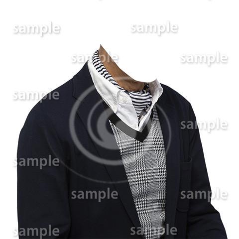C015-男性ジャケット-遺影素材着せ替え