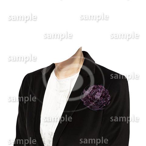 C078-遺影素材-女性黒の着せ替え