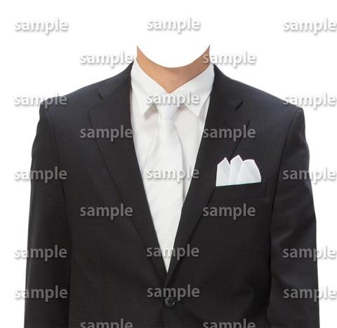 白ネクタイ遺影素材
