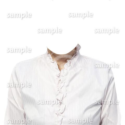 C112-遺影素材-女性白の着せ替え