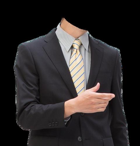 フリー素材遺影着せ替えスーツ