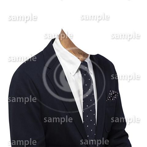 C012-男性ジャケット-遺影素材着せ替え