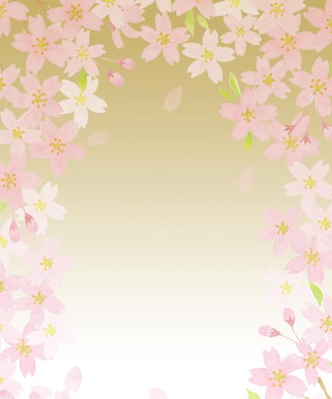 金と桜イメージ素材無料