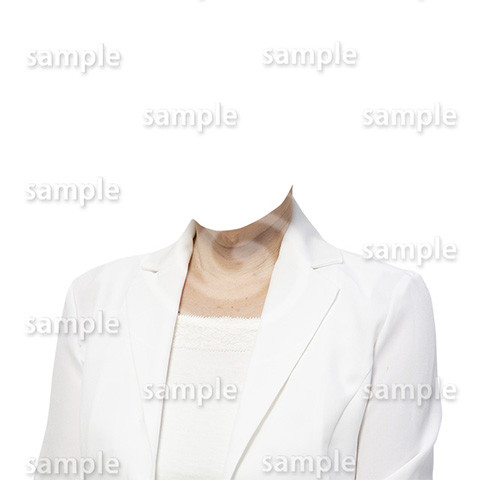 C096-遺影素材-女性白の着せ替え