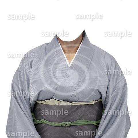 B190kimono-cutout-遺影作成