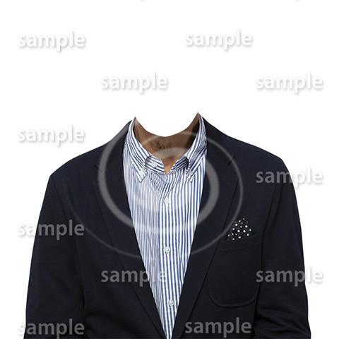 C017-男性ジャケット-遺影素材着せ替え