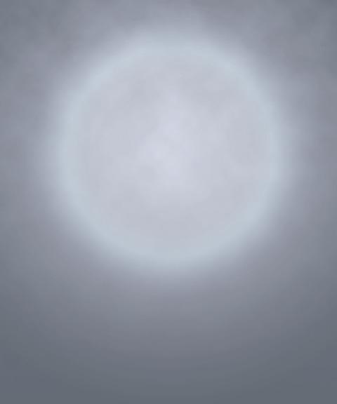 月が光っているような遺影背景画像ハイレベル