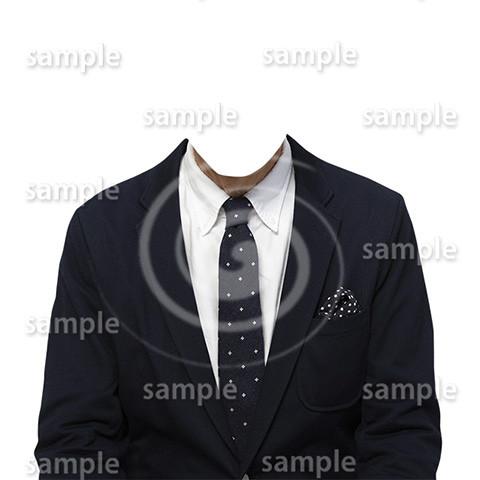 C011-男性ジャケット-遺影素材着せ替え