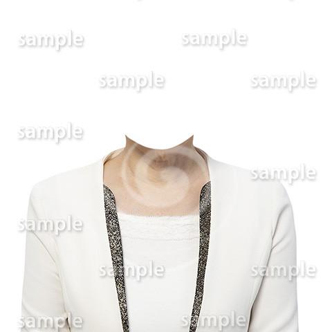 C115-遺影素材-女性白の着せ替え