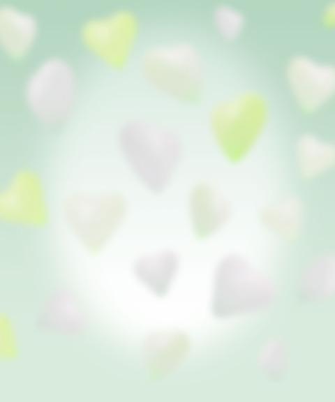 グリーンハートの無料背景素材
