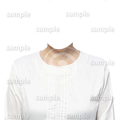 C106-遺影素材-女性白の着せ替え