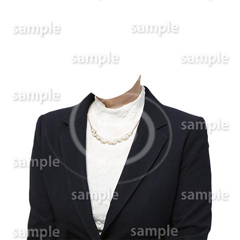 C069-遺影素材-女性黒の着せ替え