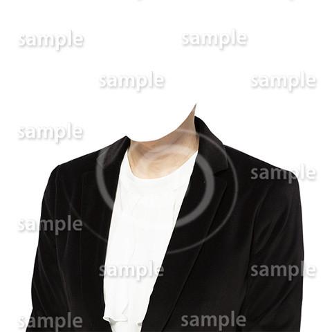 C081-遺影素材-女性黒の着せ替え