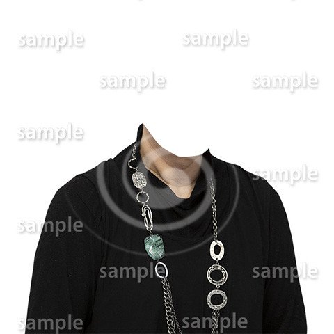 C059-遺影素材-女性黒の着せ替え