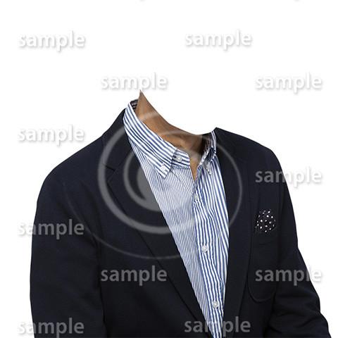 C018-男性ジャケット-遺影素材着せ替え