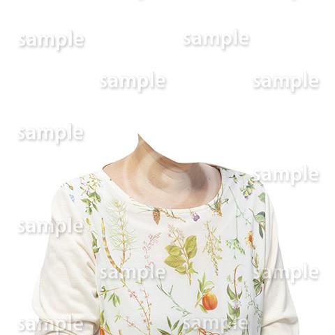 C134-遺影素材-花柄の服