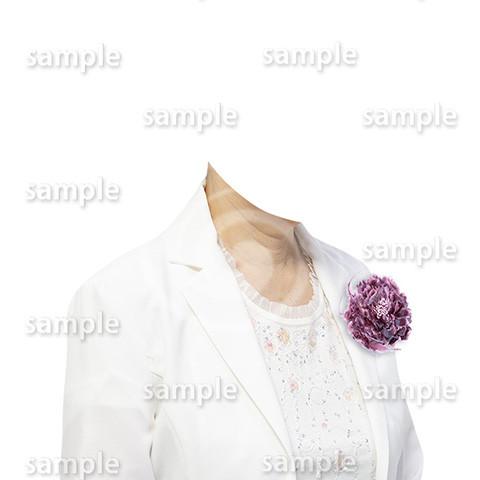 C101-遺影素材-女性白の着せ替え
