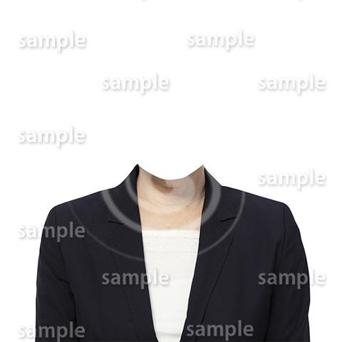 C061-遺影素材-女性黒の着せ替え