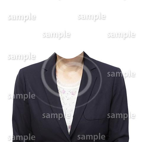 C067-遺影素材-女性黒の着せ替え