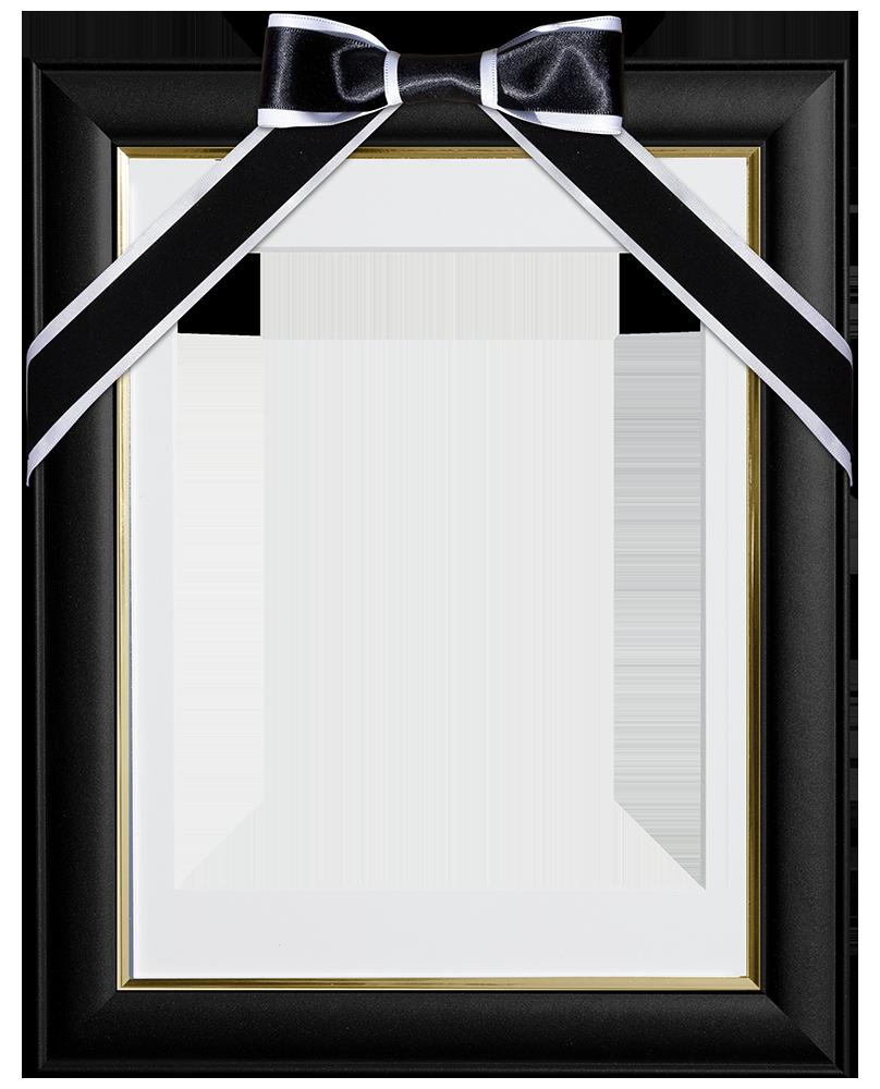 無料!遺影-額-写真切り抜き素材-黒白リボン : 遺影素材屋.com