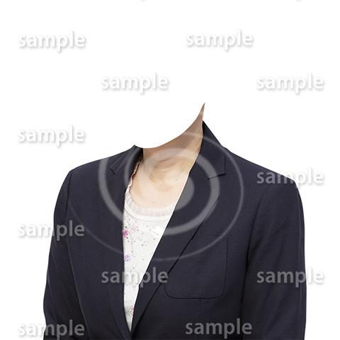 C066-遺影素材-女性黒の着せ替え