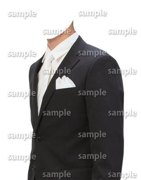 男性フォーマル白ネクタイ着せ替え