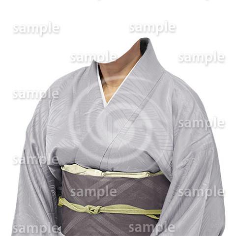 B201上品な和服-遺影素材
