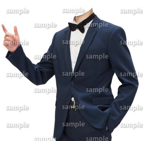 指差し着せ替え素材蝶ネクタイ