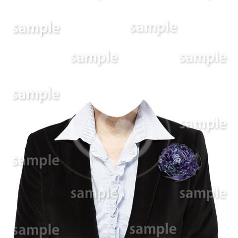 C085-遺影素材-女性黒の着せ替え