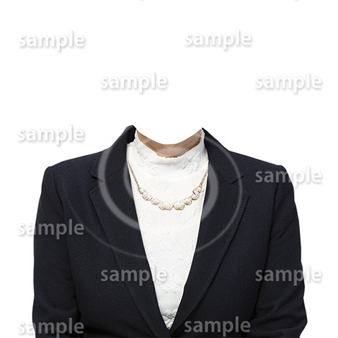 C070-遺影素材-女性黒の着せ替え