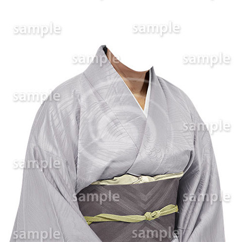 B200上品な和服-遺影素材