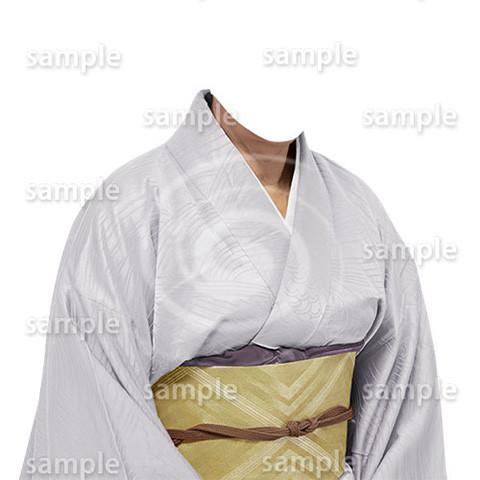 B197上品な和服-遺影素材
