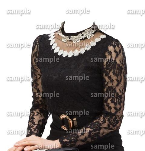 着せ替え黒フォーマル女性遺影