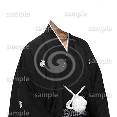 C003-紋付袴-遺影素材着せ替え