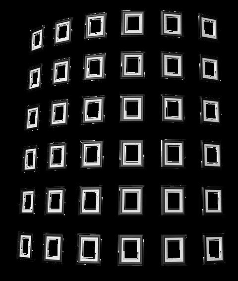 遺影透過額素材11タワー黒色