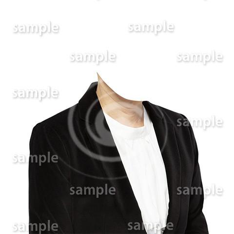 C083-遺影素材-女性黒の着せ替え