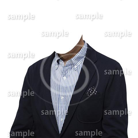 C016-男性ジャケット-遺影素材着せ替え