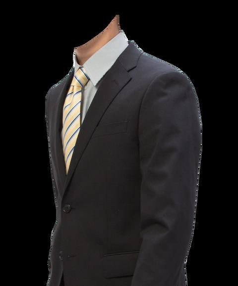 無料遺影素材スーツ着せ替え
