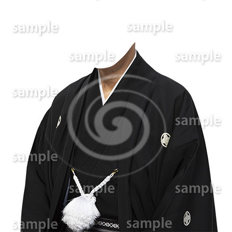 C001-紋付袴-遺影素材着せ替え