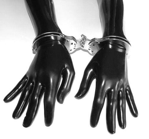 ラバーロング手袋 手錠