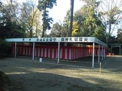 鷲宮神社2010大酉祭、正月準備中